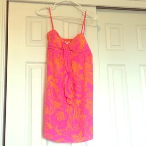 Lilly Pulitzer Small hot pink/orange dress